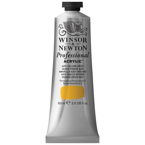 Winsor & Newton 60 ml Professional Acrylic Colour - Azo Yellow Deep from Winsor & Newton