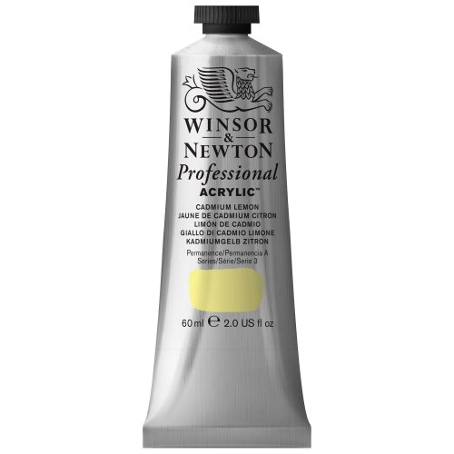 Winsor & Newton 60 ml Professional Acrylic Colour - Cadmium Lemon from Winsor & Newton