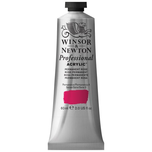 Winsor & Newton 60 ml Professional Acrylic Colour - Permanent Rose Quin from Winsor & Newton