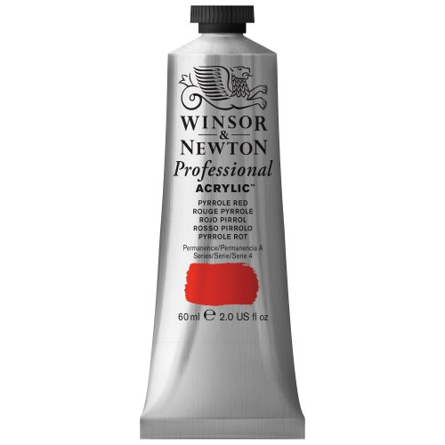 Winsor & Newton 60 ml Professional Acrylic Colour - Pyrrole Red from Winsor & Newton