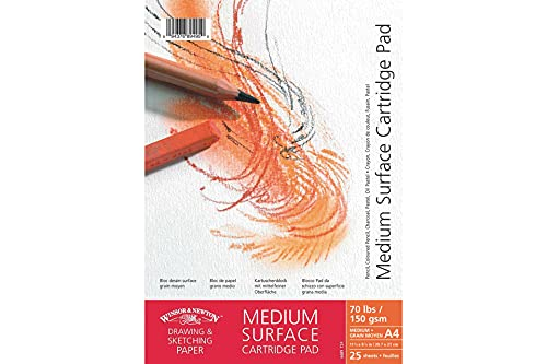 Winsor & Newton 6689722, Medium Pure White Drawing Pad Spiral Bound – Pure White, 150 g/m² – 25 sheets – A6, Paper, White, DIN A6 - 150g/m², Spiralbindung from Winsor & Newton
