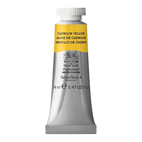 Winsor & Newton 14 ml Tube Professional Water Colour Paint, Cadmium Yellow from Winsor & Newton