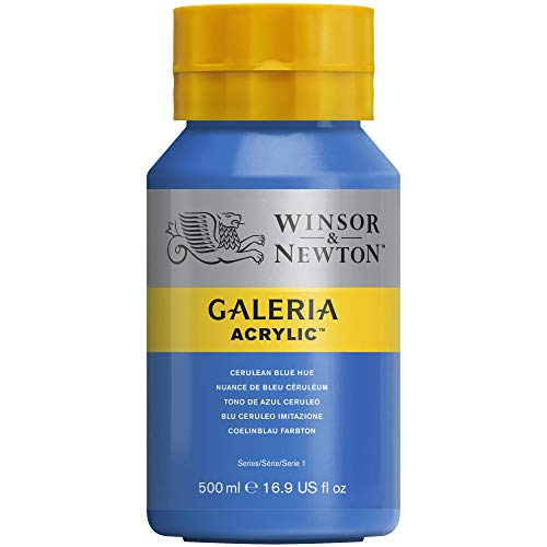 Winsor and Newton Galeria Acrylic Colour 500ml 138 Cerulean Blue Hue (Pot) from Winsor & Newton