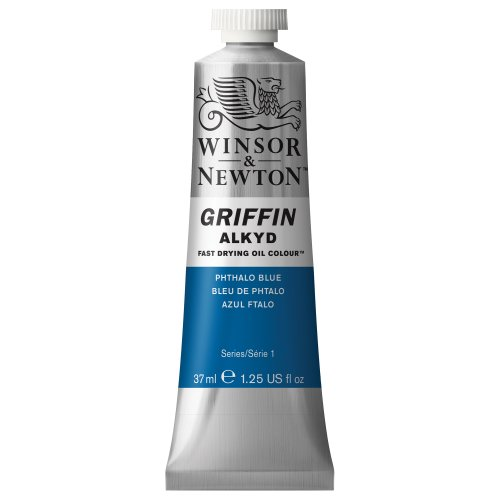 Winsor & Newton Griffin 37ml Alkyd Fast Drying Oil Colour Tube - Phthalo Blue from Winsor & Newton