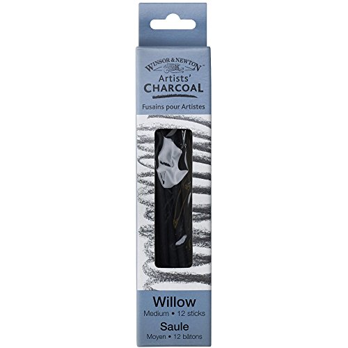 Winsor & Newton Winsor and Newton Artist Willow Charcoal Sticks 12 kg Medium, Black from Winsor & Newton