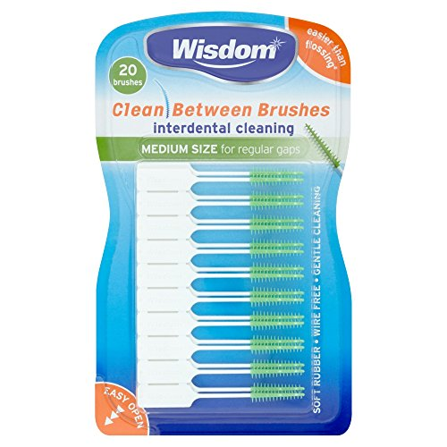 Wisdom Medium Green Clean Between Interdental Brushes - Pack of 20 from Wisdom
