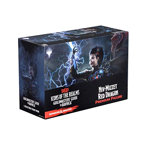 WizKids Dungeons & Dragons Fantasy Miniatures: Icons of the Realms Set 10 Guildmasters` Guide to Ravnica Niv-Mizzet Red Dragon P from WizKids