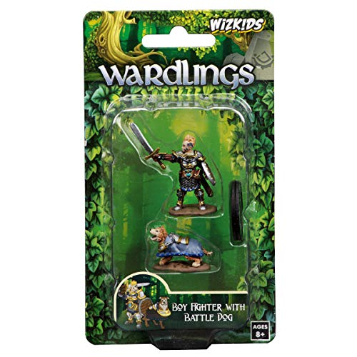 WizKids Wardlings Boy Fighter with Battle Dog painted fantasy miniatures from WizKids