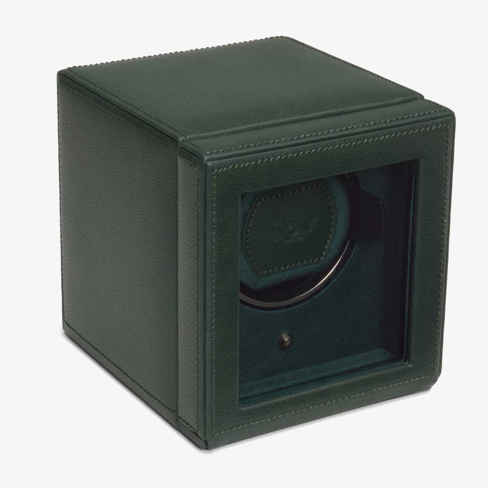 Wolf Cub With Cover Green Watch Winder 461141 from Wolf