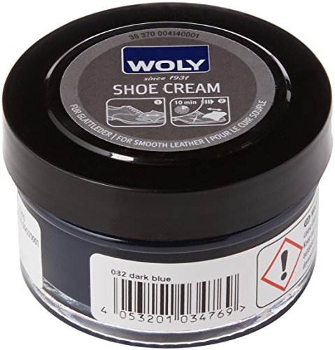 Woly Unisex-Adult Shoe Cream Shoe Treatments & Polishes, Blue (Dark Blue), 50.00 ml from Woly