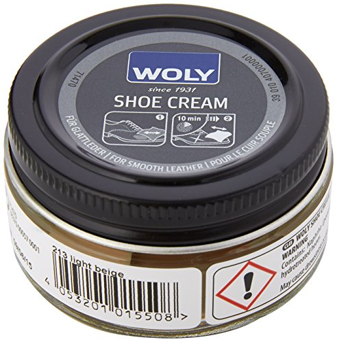 Woly Unisex-Adult Shoe Cream Shoe Treatments & Polishes, Beige (Light Beige), 50.00 ml from Woly