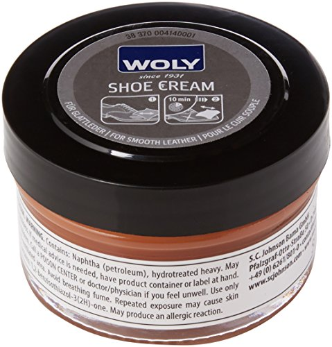 Woly Unisex-Adult Shoe Cream Shoe Treatments & Polishes, Brown (Light Brown), 50.00 ml from Woly
