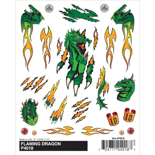 Woodland Scenics Pine Car Derby Dry Transfer Decal 4-inch x 5-inch Sheet-Flaming Dragon from Woodland Scenics