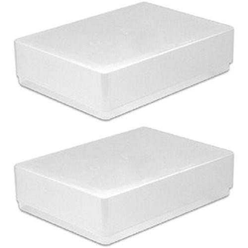 NEW 2 X A5 CLEAR PLASTIC PAPER STORAGE CRAFTS CARDS BOX OFFICE LEAFLET FLYER CRAFT BOXES HOLDER PACK SET OF 2 from Woodstock