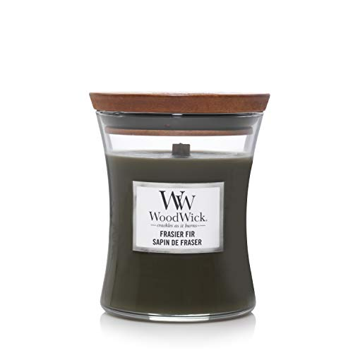 Woodwick Medium Hourglass Scented Candle | Frasier Fir | with Crackling Wick | Burn Time: Up to 60 Hours, Frasier Fir from Woodwick