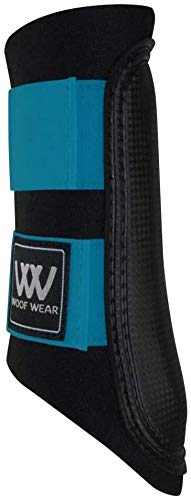 Woof Wear Club Brushing Boots Black/Turquoise Small from Woof Wear