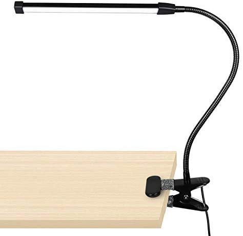 Desk Lamp, 10 Dimmable Brightness 3 Light Modes Reading Lamp, Study Lamp, Clamp-on Crafts Light USB Plug-in Powered from Woputne
