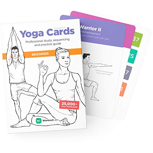 WorkoutLabs YOGA CARDS – Beginner: Professional Visual Study, Class Sequencing & Practice Guide with Essential Poses, Breathing Exercises & Meditation · Flash Cards Deck with Sanskrit from WorkoutLabs