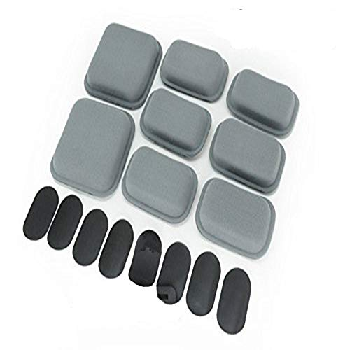 Military Airsoft 8 Pcs CP Helmet Padding Pads Airframe Air Frame Comfort Protective Cushion Memory Foam Fit Kit Grey with Velcro Pad, NOT Include the Helmet from Worldshopping4U