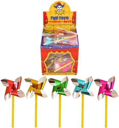 Henbrandt 6x Mini Foil Sand Castle Windmills - 7cm from HENBRANDT