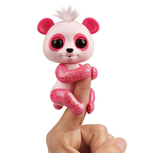 Fingerlings Glitter Panda -  Polly (Pink) - Interactive Collectible Baby Pet - By WowWee from Wow Wee