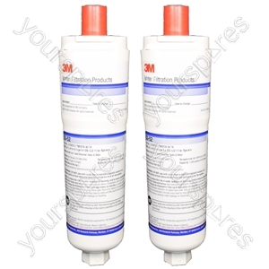 2 x Fridge Water Filter Cuno CS-52 Filter for American Refrigerators from Wpro
