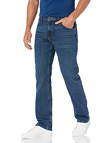 Wrangler Men's Authentics Classic Straight Fit Jean, Ranch Blue Flex, 34X30 from Wrangler