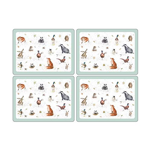 Wrendale Designs Set of 4 Large placemats, Multi Coloured from Portmeirion Home & Gifts