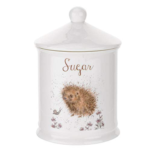 Wrendale by Royal Worcester Sugar Canister (Hedgehog), Bone China, Multi-Colour, 10.5 x 10.5 x 15.5 cm from Portmeirion Home & Gifts