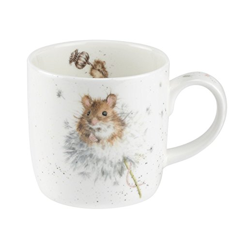 Portmeirion Home & Gifts Wrendale Country (Mice) Single Mug, Bone China, Multi Coloured, 12 x 8.4 x 8 cm from Portmeirion Home & Gifts