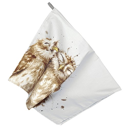 Portmeirion Home & Gifts Wrendale Tea Towel (Owl), Cotton, Multi-Color, 74 x 45 x 0.5 cm from Portmeirion Home & Gifts