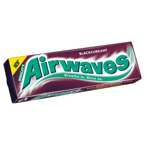 Airwaves Blackcurrant Sugarfree Chewing Gum 10 Pieces Case of 30 from Wrigley's