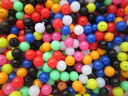 8mm Beads for Fishing, Multi Coloured x100 per pack. Ideal for rigs, sea, boat and beach fishing from XLN Tackle
