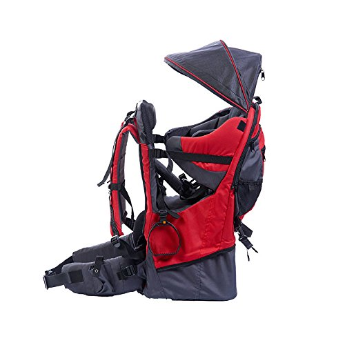 Baby toddler Hiking Backpack Carrier with Raincover Child Kid Sun canopy Shield, Red from XTLSTORE