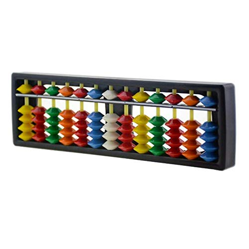1Pcs ABS Abacus Chinese Calculator Frame 13 Digits Rods with Colorful Beads for Children Calculating and Arithmetic Mathematic Education from XUMIN