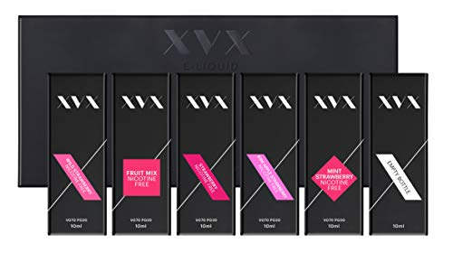 XVX E Liquid \ Strawberry Mix \ 5 Pack \ Fruit Mix \ Kiwi Apple Strawberry \ Mint Strawberry \ Strawberry \ Wild Strawberry \ E Cigarettes 10ml Bottle Electronic Cigarette Shisha Vapouriser \ Ecig from XVX