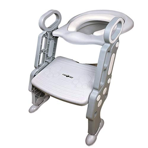 Potty Training Seat for Kids Adjustable Toddler Toilet Potty Chair with Sturdy Non-Slip Step Stool Ladder from XXQ