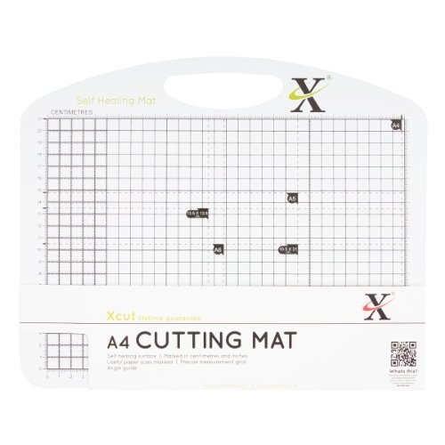 Xcut A4 Self Healing Duo Cutting Mat, Black/White from Xcut