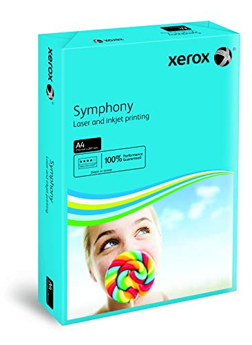 Xerox Symphony Coloured Paper Multifunctional Ream-Wrapped 80gsm A4 Deep Blue Ref 3R93959 [500 Sheets] from Xerox