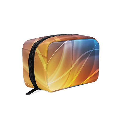 Makeup Bag Light Abstract Background Cosmetic Pouch Clutch from XiangHeFu