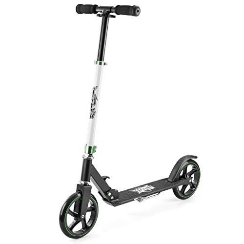 Xootz Big Wheel Scooter for Kids, Foldable with Adjustable Handlebars - Black from Xootz