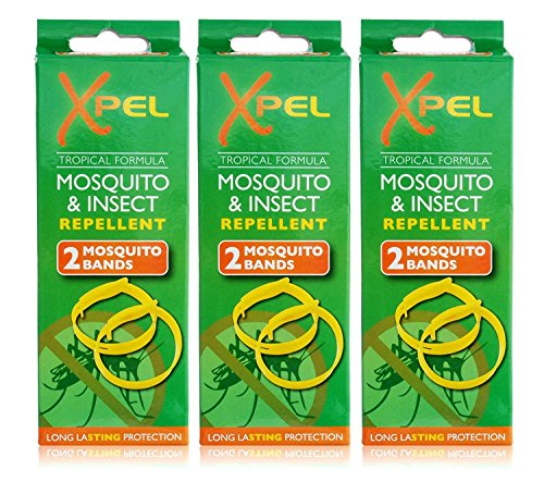 3x Xpel Mosquito Insect Fly Bite Repellent Bands Tropical Formula Twin Pack from Xpel