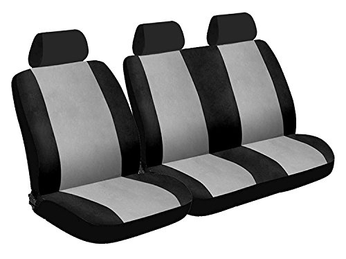 XtremeAuto® 6 Piece Van Seat Cover Set Grey / Black High Quality - Includes XtremeAuto Sticker from XtremeAuto