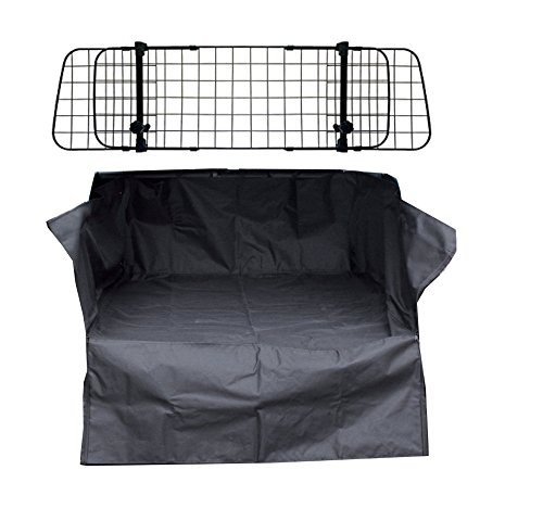 Heavy Duty Car Boot Liner Mat & Bumper Protector & Mesh Grill Dog Barrier Guard from XtremeAuto