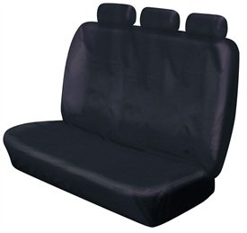 XtremeAuto© REAR TRIPLE BLACK BENCH SEAT COVERS from XtremeAuto