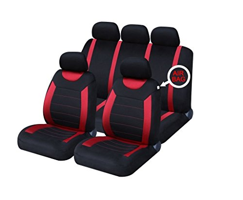 XtremeAuto® Universal Fit Set of Red / Black Car Seat Covers WLW2-A52 from XtremeAuto