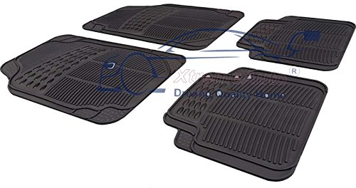 XtremeAuto® Universal Full Rubber 4 Piece Heavy Duty High Quality Non-Slip Car Floor Well Mat from XtremeAuto