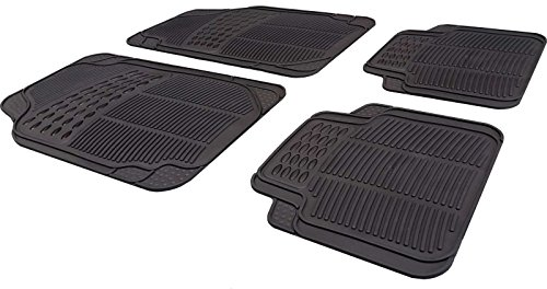 XtremeAuto® Universal Full Rubber Heavy Duty High Quality Non-Slip Car Floor Well Mat - Includes XtremeAuto Sticker XA4 from XtremeAuto