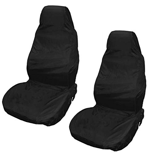 XtremeAuto® Waterproof Car Front/Rear Seat Covers Tear Resistant Fabric in Black (Front Black) from Xtremeauto