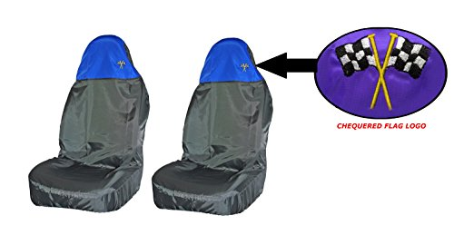 XtremeAuto® XA_blue_seatcovers Universal Full Car Front And Rear Seat Cover Protectors Set, Black Blue from XtremeAuto